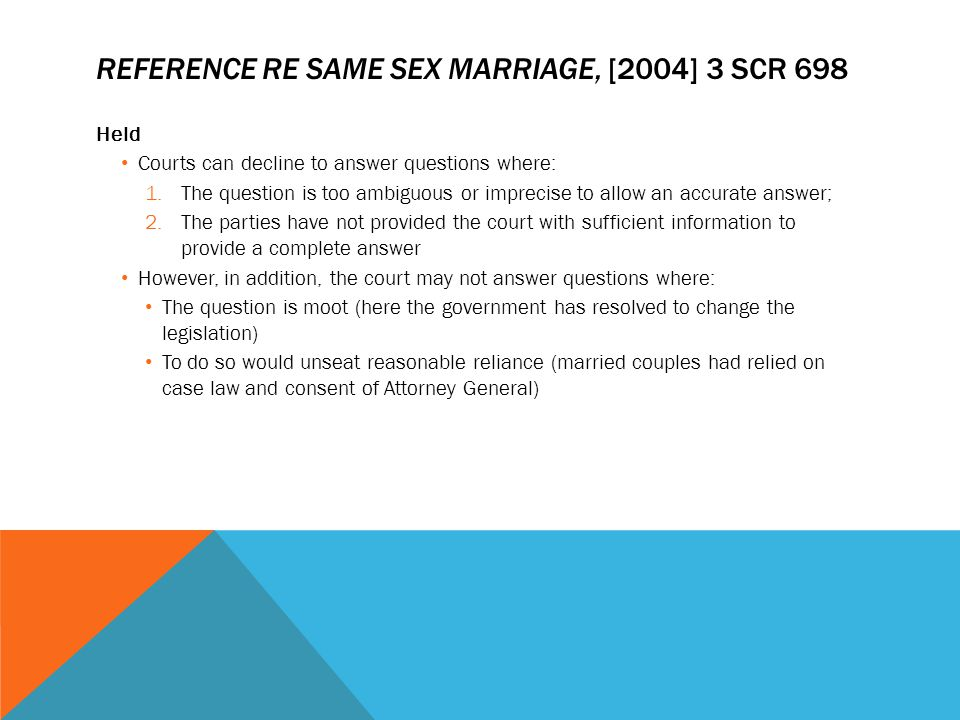 Reference re Same sex Marriage, [2004] 3 SCR 698